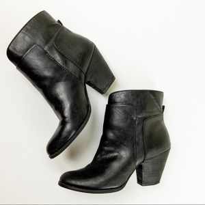Nine West Faux Leather Heeled Booties